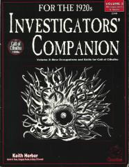 Investigators' Companion #2 - Occupations & Skills
