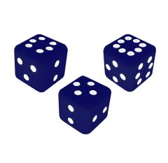 Combination Dice Set - Blue (3)