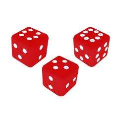 Combination Dice Set - Red (3)