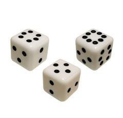 Combination Dice Set - White (3)