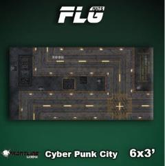 6' x 3' - Cyberpunk City