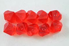 d10 Ruby (10) (Plain)