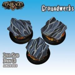 30mm Groundwerks Base Inserts - Lava Slab