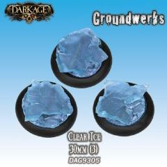 30mm Groundwerks Base Inserts - Clear Ice