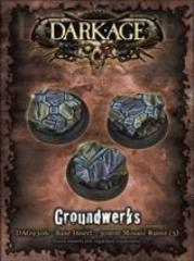 30mm Groundwerks Base Inserts - Mosaic Ruins