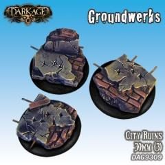 30mm Groundwerks Base Inserts - City Ruins