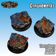 30mm Groundwerks Base Inserts - Temple Ruins