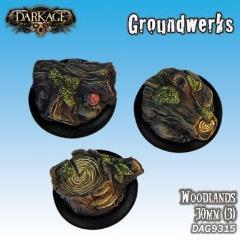 30mm Groundwerks Base Inserts - Woodlands