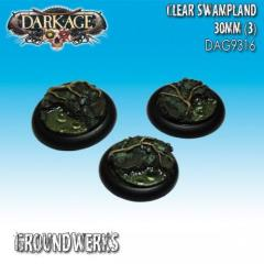 30mm Groundwerks Base Inserts - Clear Swampland