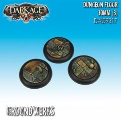 30mm Groundwerks Base Inserts - Dungeon Floor