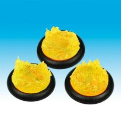 30mm Groundwerks Base Inserts - Opaque Yellow Fire