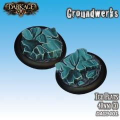 40mm Groundwerks Base Inserts - Ice Flat