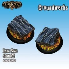 40mm Groundwerks Base Inserts - Lava Slab