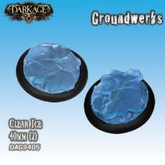 40mm Groundwerks Base Inserts - Clear Ice