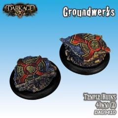 40mm Groundwerks Base Inserts - Temple Ruins