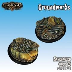 40mm Groundwerks Base Inserts - Sandbagged