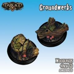 40mm Groundwerks Base Inserts - Woodlands