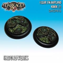 40mm Groundwerks Base Inserts - Clear Swampland #1