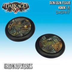40mm Groundwerks Base Inserts - Dungeon Floor