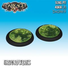 40mm Groundwerks Base Inserts - Slime Pit