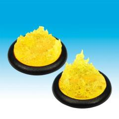 40mm Groundwerks Base Inserts - Opaque Yellow Fire