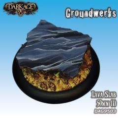50mm Groundwerks Base Inserts - Lava Slab