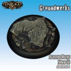 50mm Groundwerks Base Inserts - Blasted Ruins