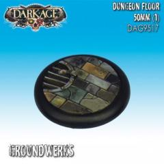 50mm Groundwerks Base Inserts - Dungeon Floor