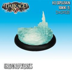 50mm Groundwerks Base Inserts - Clear Resin Ice Explosion