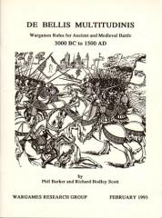 De Bellis Multitudinus - Wargames Rules for Ancient and Medieval Battles 3000BC - 1500AD (Version 1)