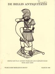 De Bellis Antiquitatis - Wargames Rules for Ancient and Medieval Battles (Version 1)