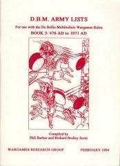 DBM Army Lists #3 - 476 AD to 1071 AD (1st Edition)