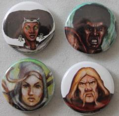 Iconic Character Buttons