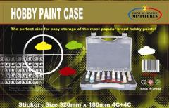 Hobby Paint Case w/Foam Insert