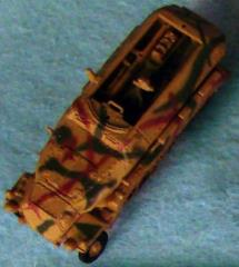 German Sd Kfz 251/1C - Tan w/Green & Brown Camo