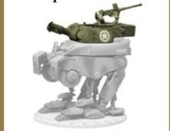 Medium Combat Walker M3-F2 - Steel Rain (Light) - Tropical Petard Turret (Kickstarter Exclusive)