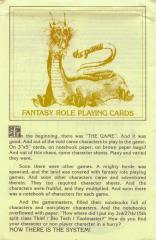 Fantasy Role Playing Cards