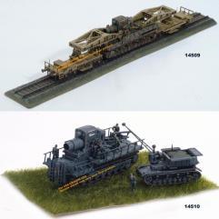 Morser Karl Mortar w/Railway Transport/Ammo Carrier - 4 Piece Assortment