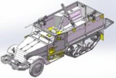 IDF M3 Halftrack Mortar Carrier