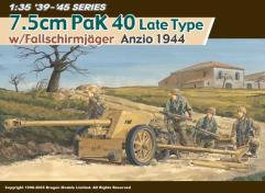 7.5cm PAK 40 w/Fallschirmjager Gun Crew