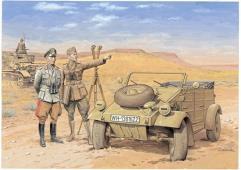 DAK Kubelwagen w/Officers
