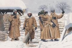 German Infantry in Wachtmantel - Leningrad 1943