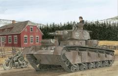 Neubau-Fahrzeug Nr.3-5 - Rheinmetall-Fahrestell und Krupp-Turm Geanderte MG-Turme