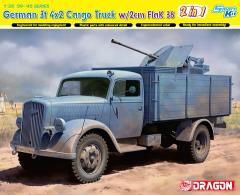 German 3t 4x2 Truck w/2cm FlaK 38
