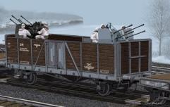 German Railway Gondola Typ Ommr w/2cm Flakvierling 38