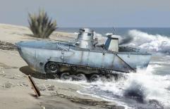 "IJN Type 2 Amphibious Tank ""Ka-Mi"" w/Floating Pontoon"