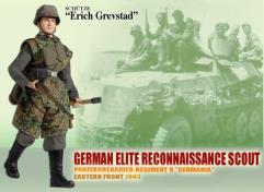 "Erich Grevstad - German Elite Reconnaissance Scout, Panzergrenadier-Regiment 9 ""Germania"", Eastern Front 1943"