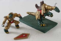 Saurian Noble Riding Armored Loping Lizard #1