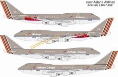 Asiana Airlines B747-400 - HL7423 & B747-400F Cargo - HL7436 (Twin Pack)