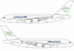 """Airbus A380 """"Recyclable by Design"""" w/New Tail Slogan"""